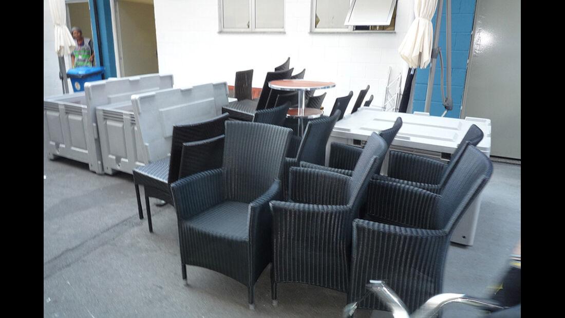 GP Brasilien Logistik Stühle