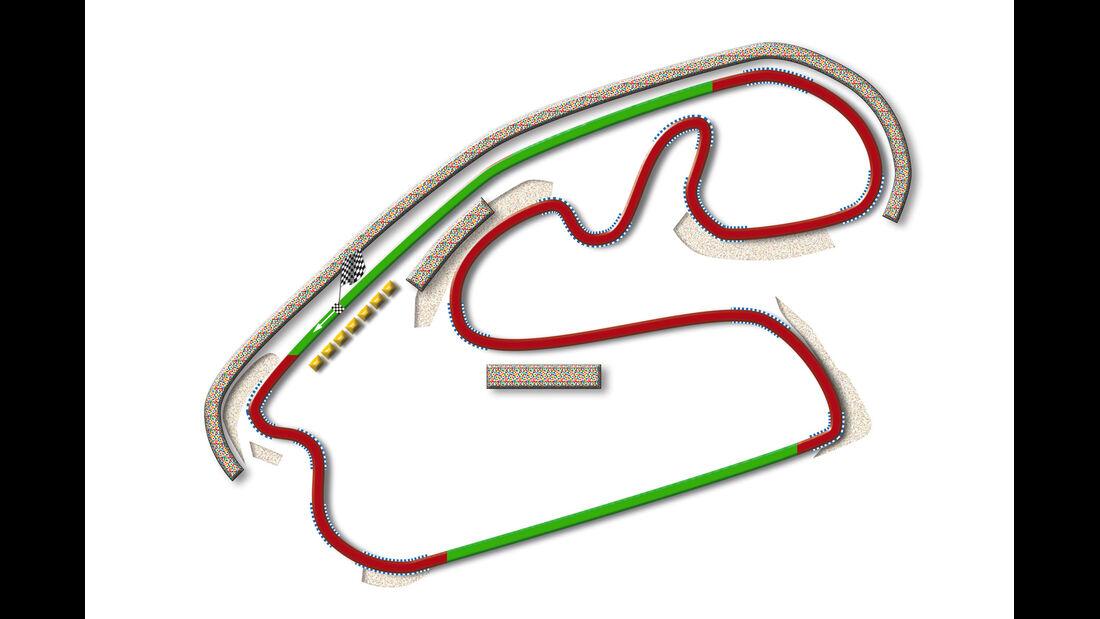 GP Brasilien Sao Paulo Strecke DRS Zone 2013