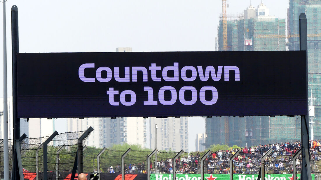GP China 2018 - Countdown to 1.000 Grands Prix
