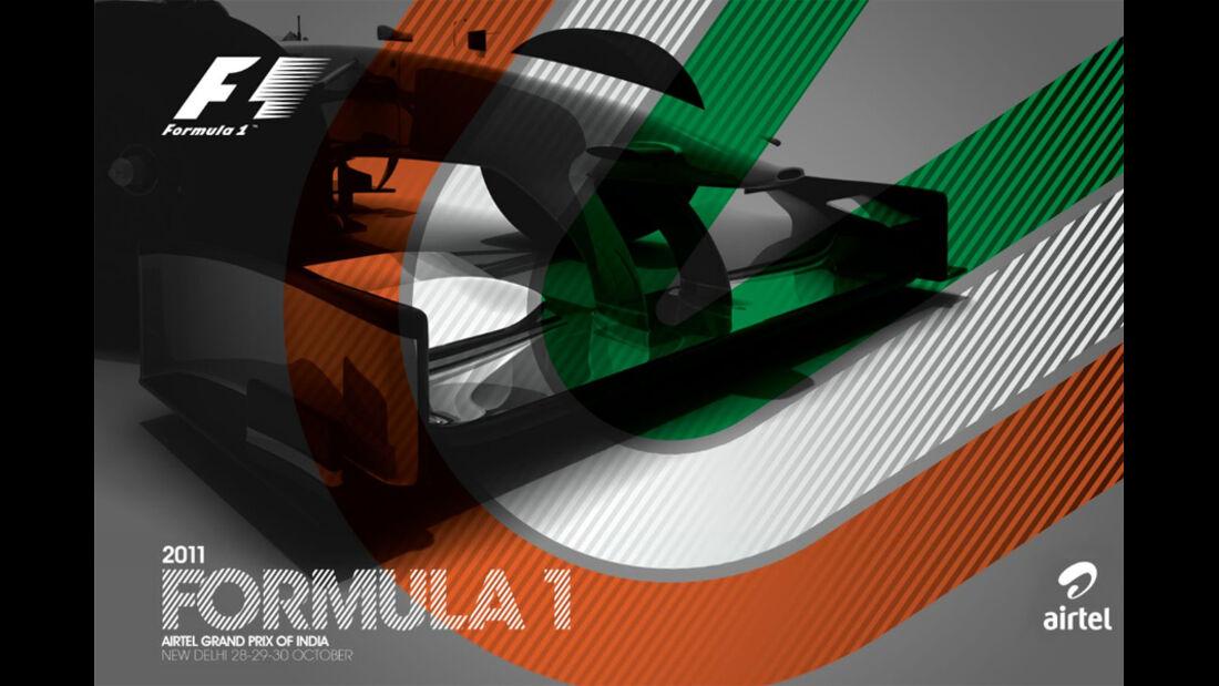 GP Indien 2011 Plakat