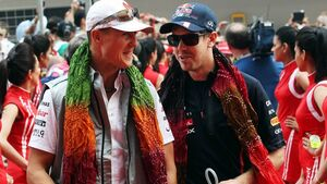 GP Indien 2012 Michael Schumacher Sebastian Vettel