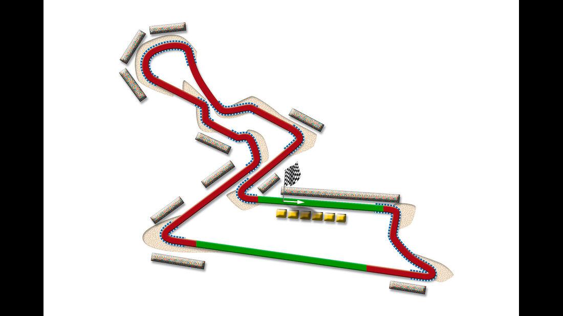 GP Indien Delhi Strecke DRS Zone 2013