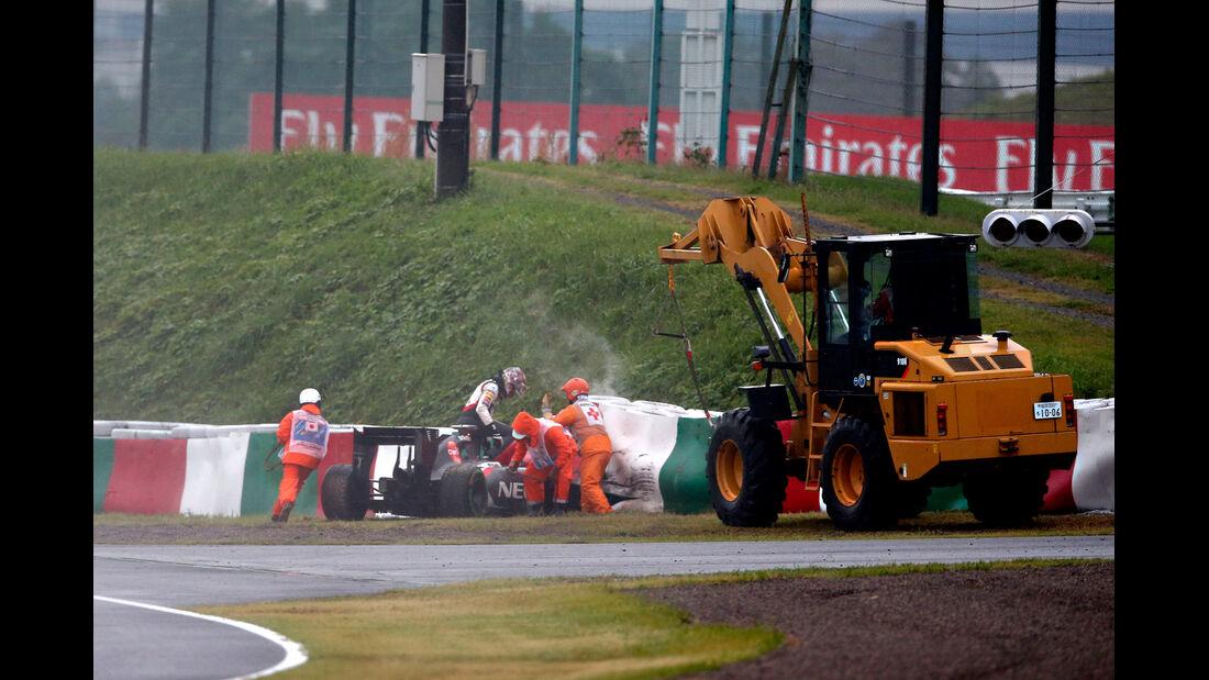 GP Japan 2014 - Unfall Sutil