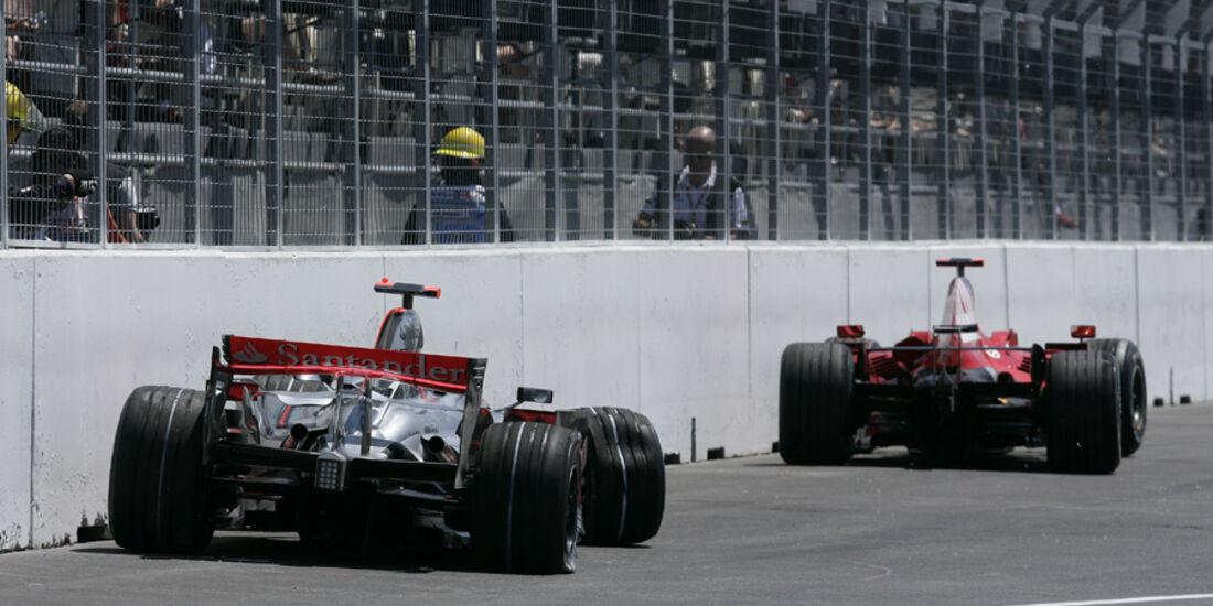 GP Kanada 2008 Lewis Hamilton Kimi Räikönen