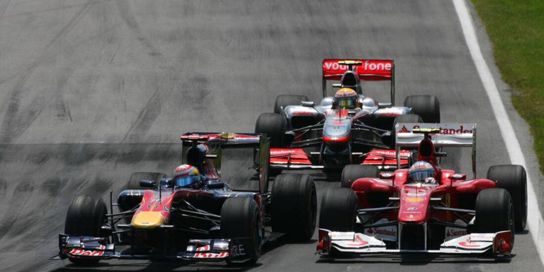 GP Kanada 2010 Buemi Hamilton Alonso