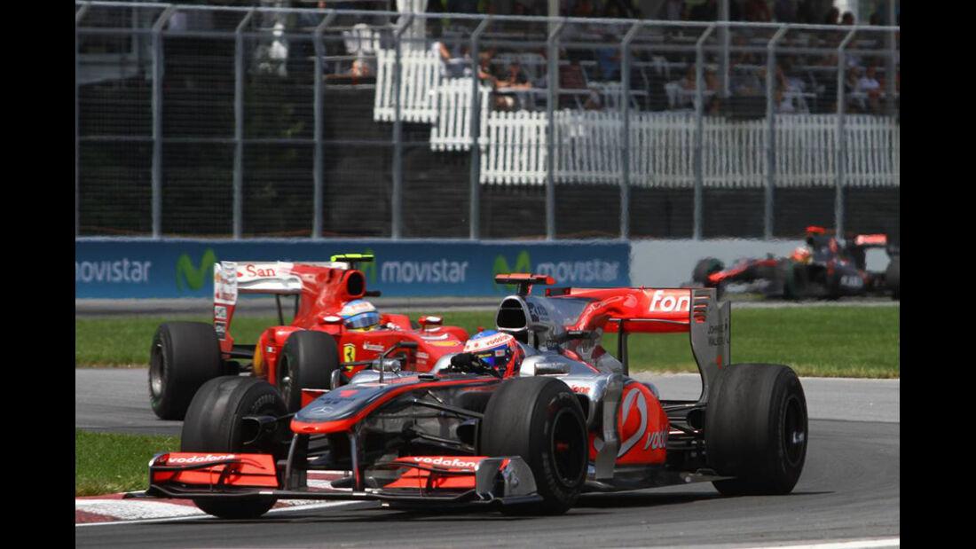 GP Kanada 2010 Button Alonso