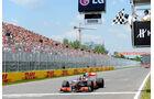 GP Kanada 2010 Hamilton Zieldurchfahrt