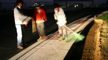 GP Korea - Bauarbeiten Kerbs