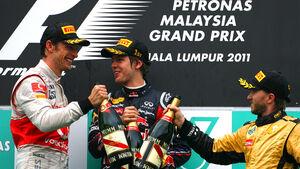 GP Malaysia 2011 - Podium