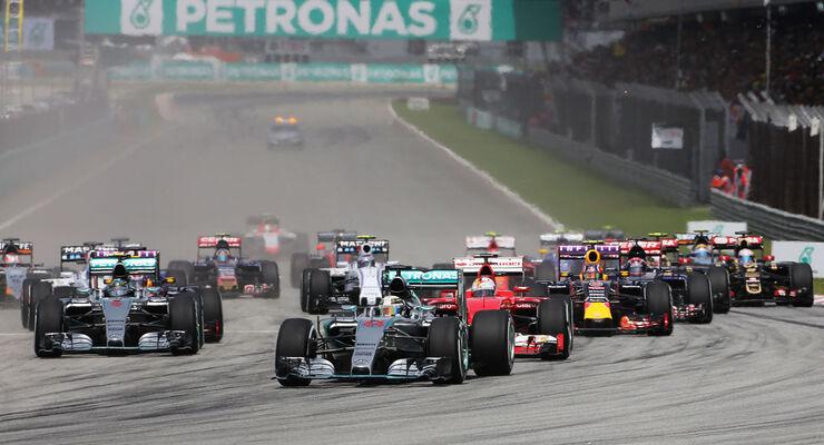 GP Malaysia - Formel 1 - Rennen - Start - Sonntag - 29.3.2015