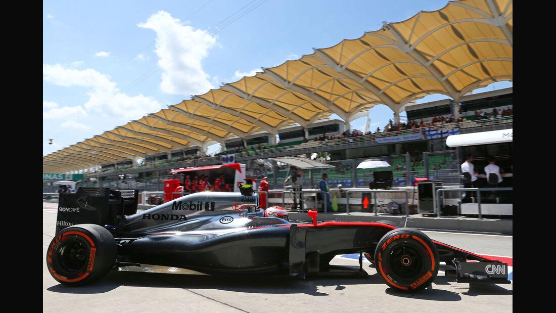 GP Malaysia - Jenson Button - McLaren-Honda - Formel 1 - Freitag - 27.3.2015
