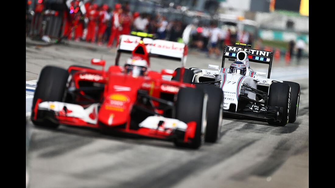 GP Malaysia - Kimi Räikkönen - Ferrari - Valtteri Bottas - Williams - Qualifikation - Samstag - 28.3.2015