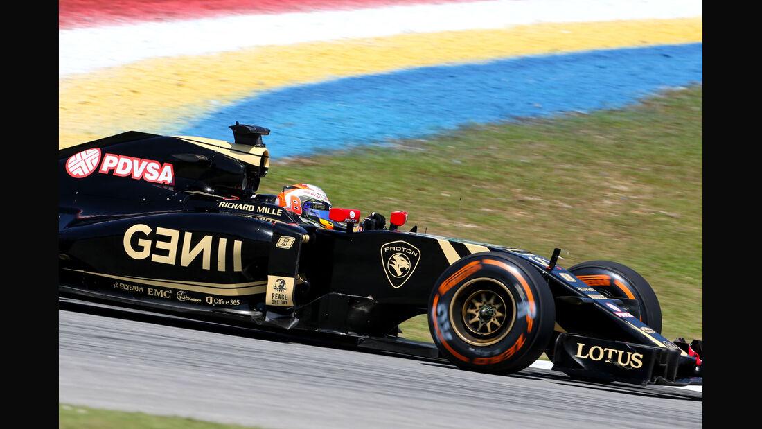 GP Malaysia - Romain Grosjean - Lotus - Formel 1 - Freitag - 27.3.2015
