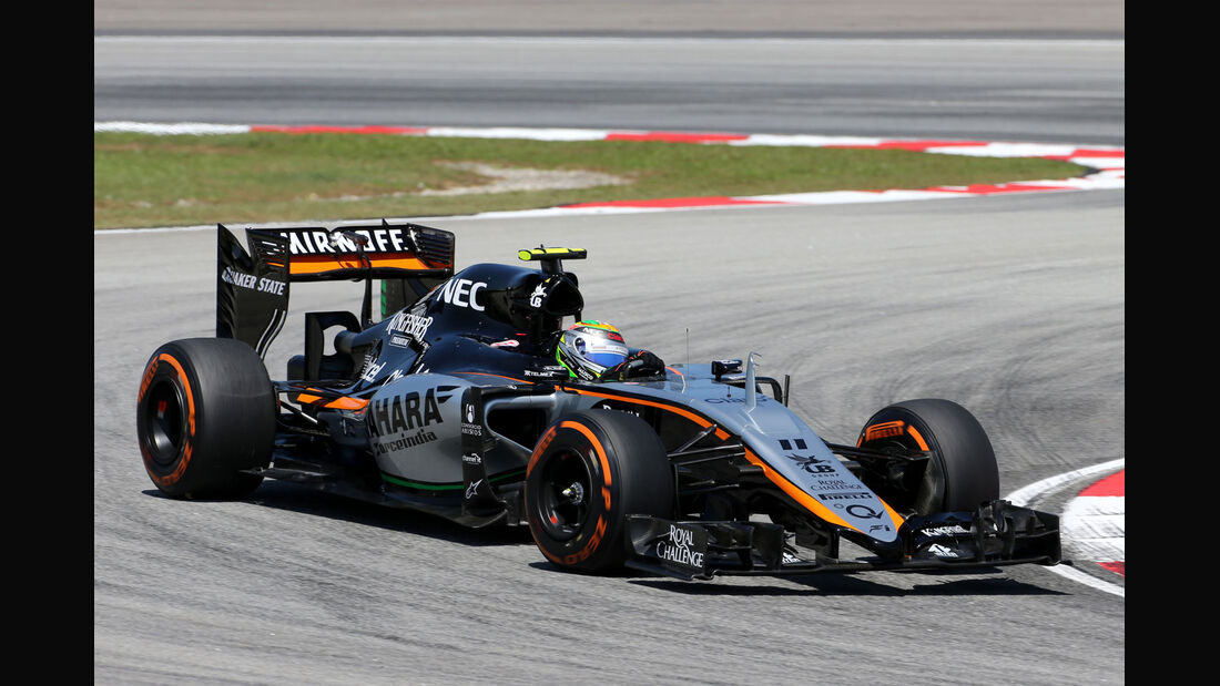 GP Malaysia - Sergio Perez - Force India - Formel 1 - Freitag - 27.3.2015