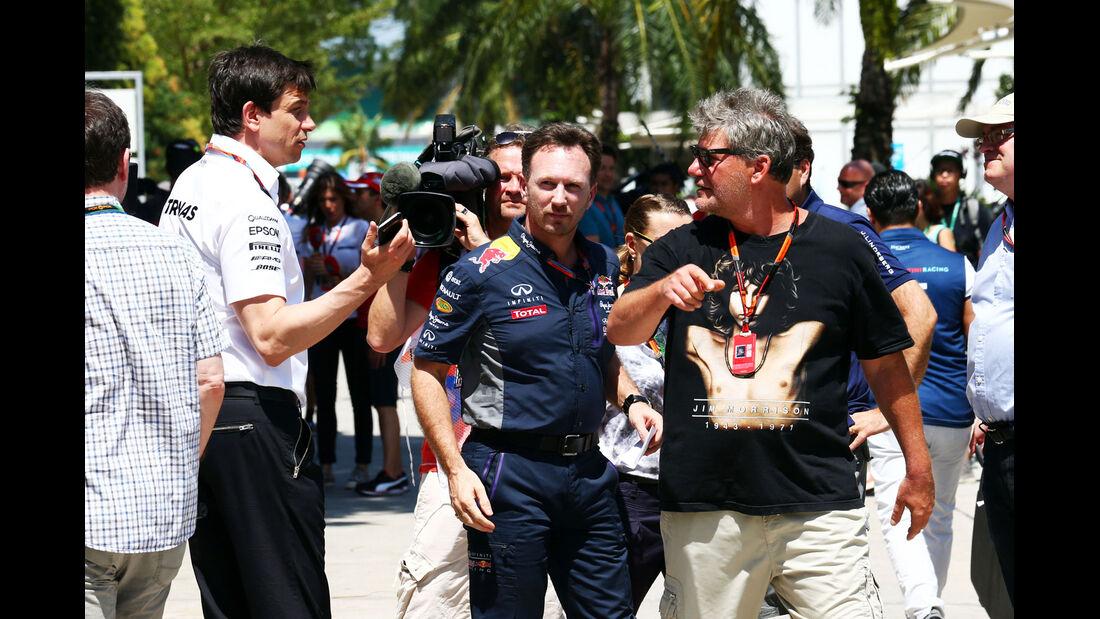 GP Malaysia - Toto Wolff - Christian Horner - Formel 1 - Freitag - 27.3.2015