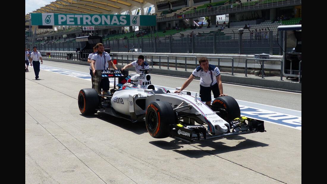 GP Malaysia - Williams - Qualifikation - Samstag - 28.3.2015