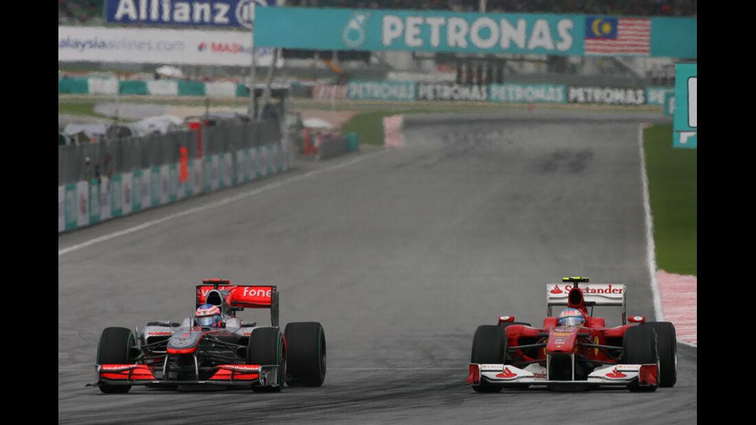 GP Malaysia Zielgerade 2010