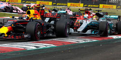 GP Mexiko 2017 - Start - Verstappen - Hamilton - Vettel - Formel 1