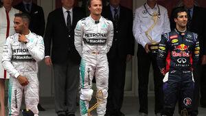 GP Monaco 2014 Lewis Hamilton Nico Rosberg Daniel Ricciardo