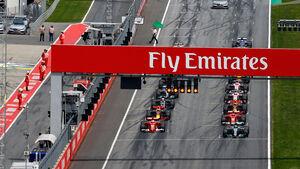 GP Österreich 2017 - Spielberg - Start - Rennen
