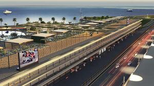 GP Saudi Arabien - Jeddah - Boxengebäude
