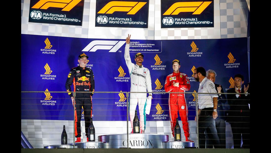 GP Singapur 2018 - Podest