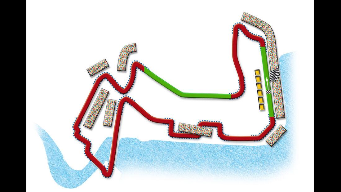 GP Singapur Strecke DRS Zone 2013
