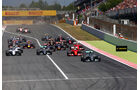 GP Spanien 2015 - Start - Rennen - Sonntag - 10.5.2015