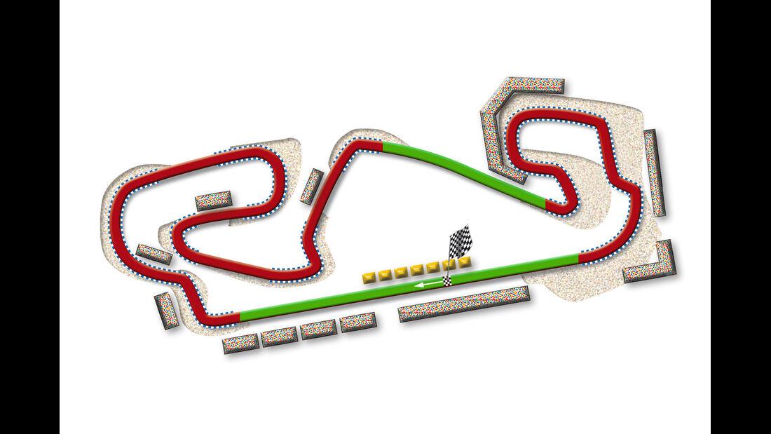 GP Spanien Barcelona Strecke DRS Zone 2013
