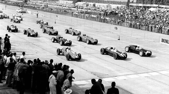 GP USA 1959 - Sebring - Start - Stirling Moss - Jack Brabham - Harry Schell