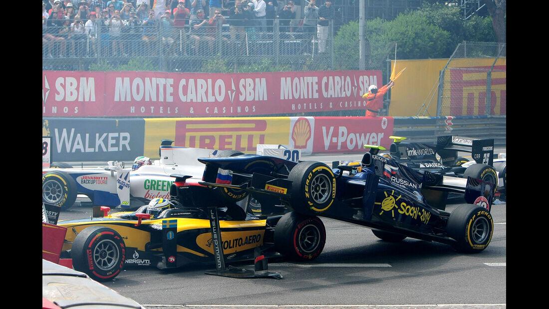 GP2  Monaco - Crash - 2013