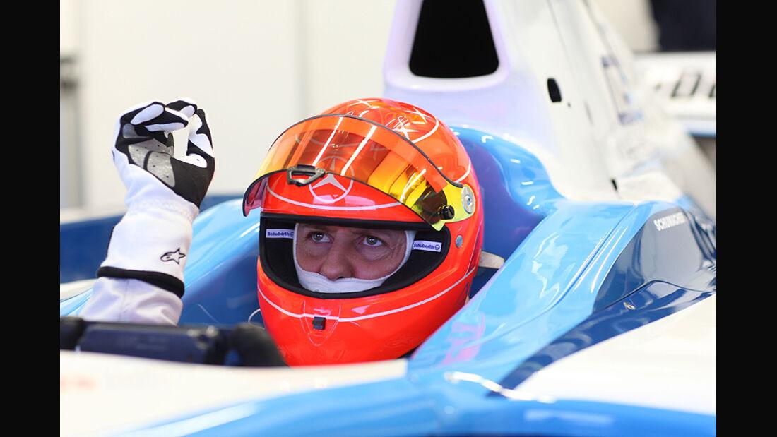 GP2 Test Michael Schumacher