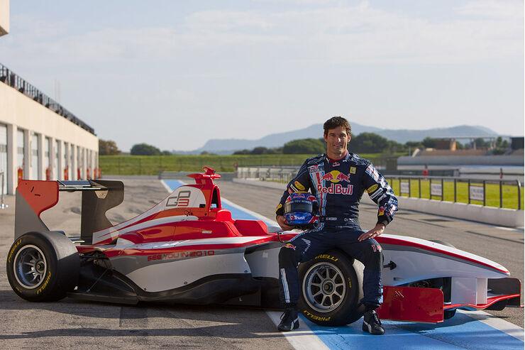 Gp3 Vorstellung Webber Testet Den Neuen Gp3 Renner Auto