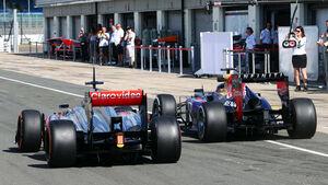 Gary Paffett & Sebastian Vettel - Young Drivers Test - Silverstone - 19. Juli 2013