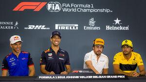 Gasly, Ricciardo, Alonso & Sainz - Formel 1 - GP Belgien - Spa-Francorchamps - 23. August 2018