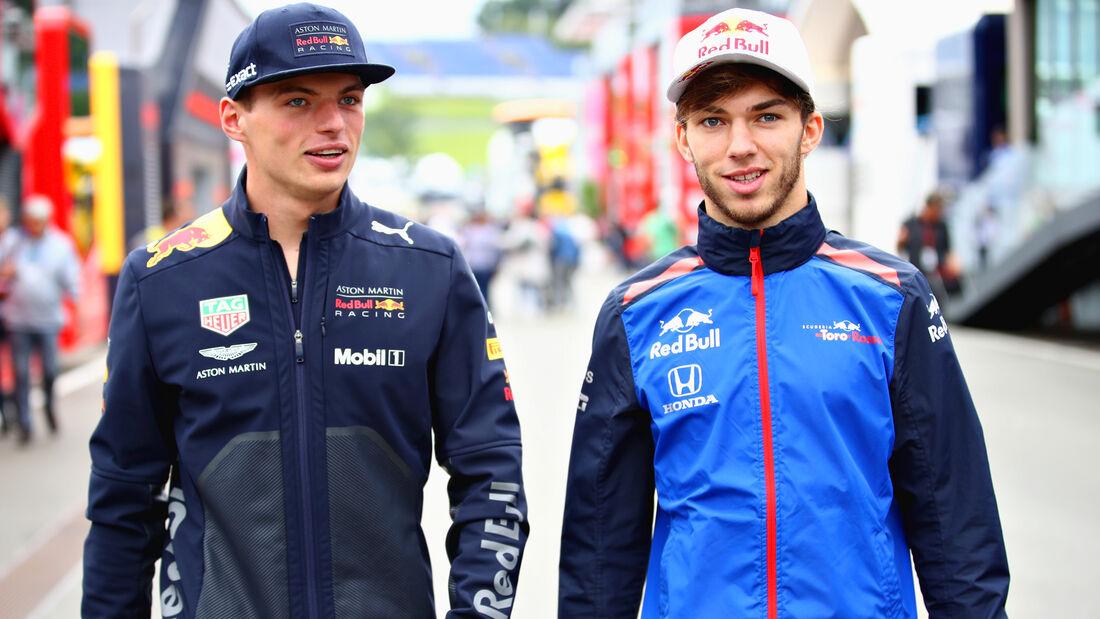 Gasly & Verstappen - Formel 1 - 2018
