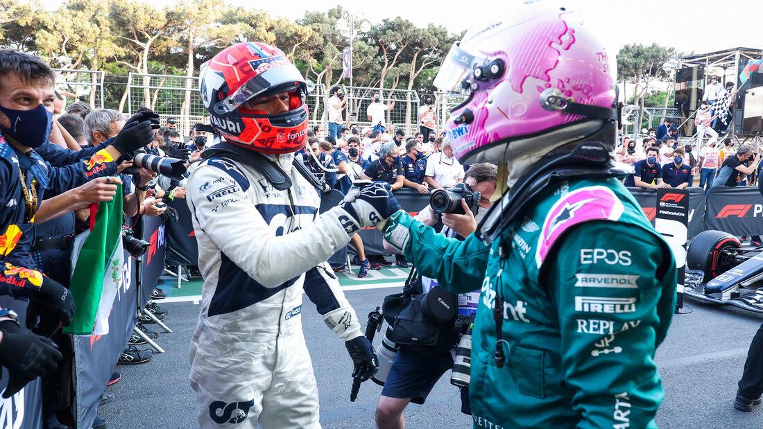 Gasly - Vettel - GP Aserbaidschan 2021 - Baku - Rennen