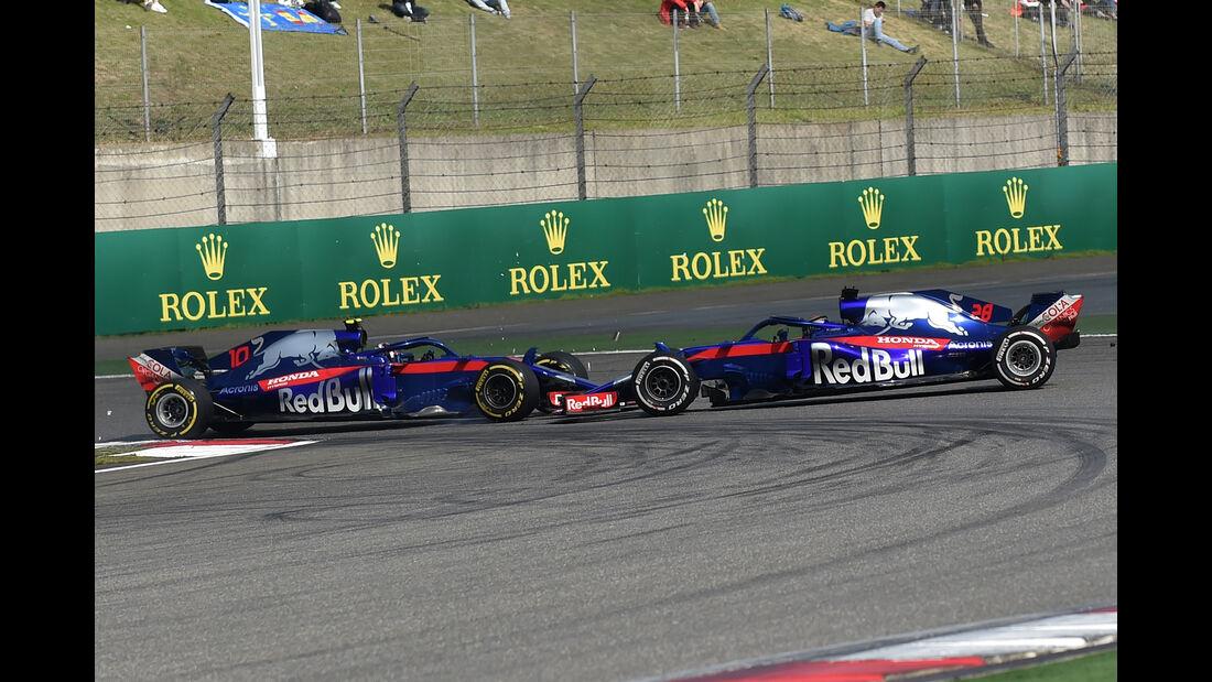 Gasly vs. Hartley - Formel 1 - GP China 2018