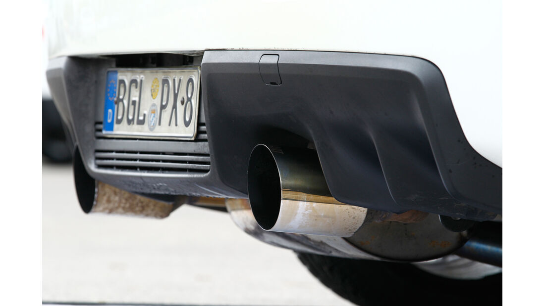 Gassner-Mitsubishi Evo hg500r, Auspuff, Endrohr