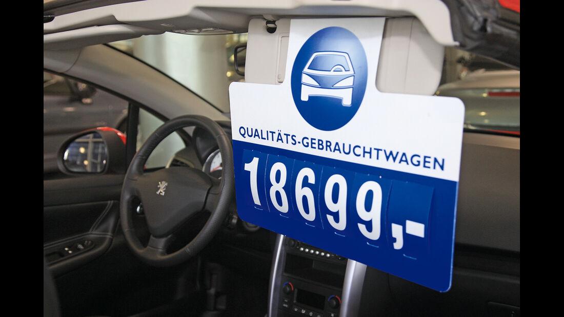 Gebrauchtwagenkauf, Preisschild
