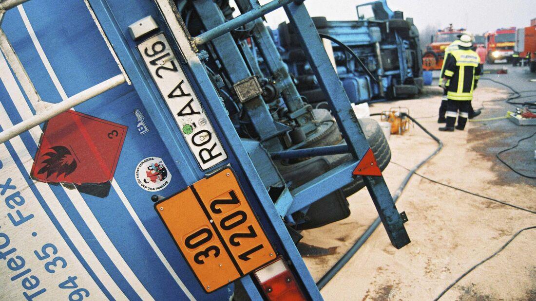 Gefahrwarntafeln Lkw