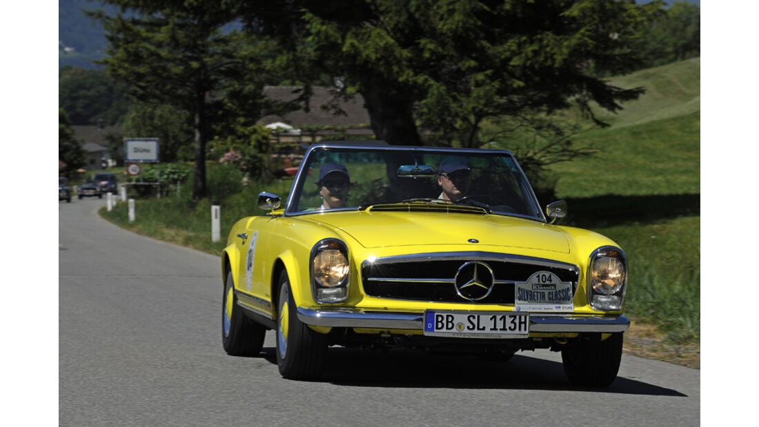 Gelbe Pagode - Mercedes SL Silvretta Classic 2010