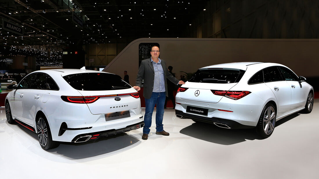 Genf Autosalon 2019 Kaltvergleich Proceed Kia Mercedes CLA Shooting Brake