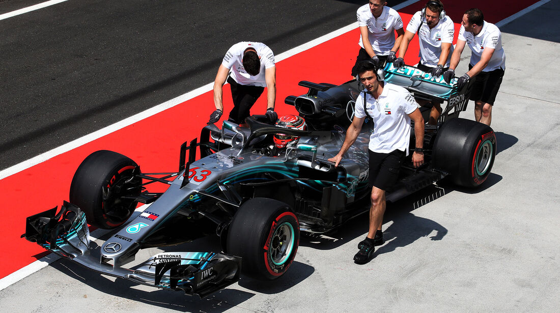 George Russel - Mercedes - F1-Test - Budapest - 1. August 2018