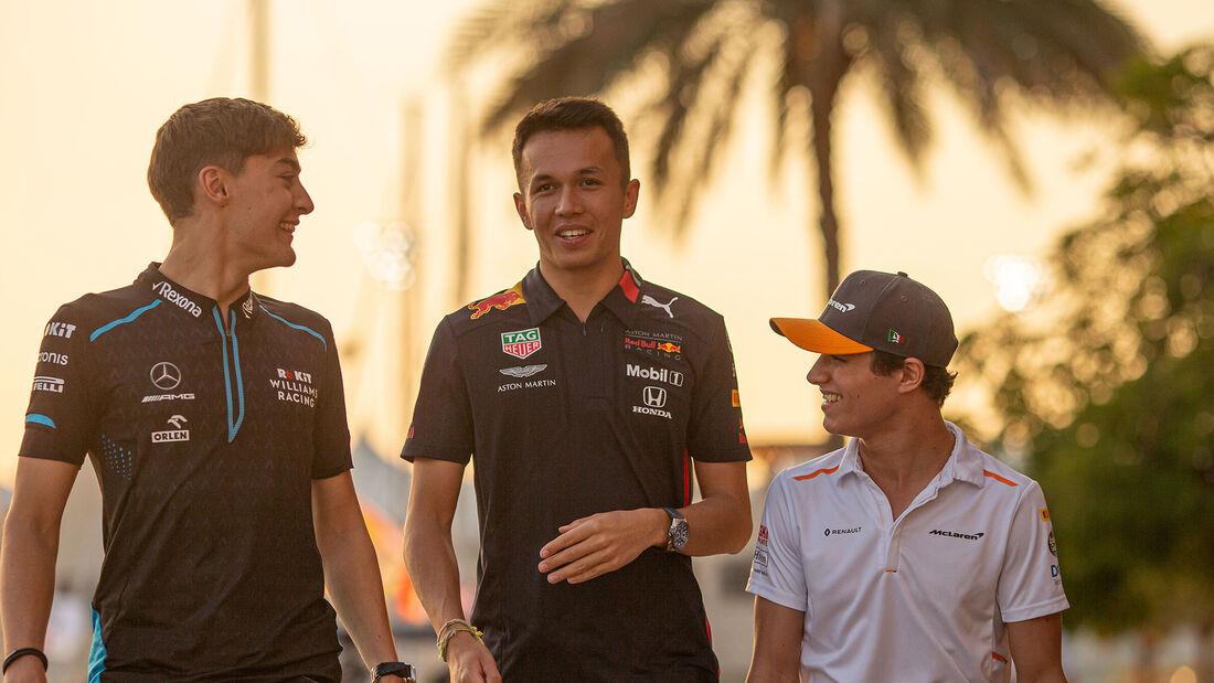 George Russell - Alexander Albon - Lando Norris - GP Abu Dhabi 2019