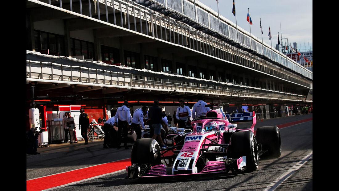George Russell - Force India - Formel 1 - Testfahrten - Barcelona - Dienstag - 15.5.2018