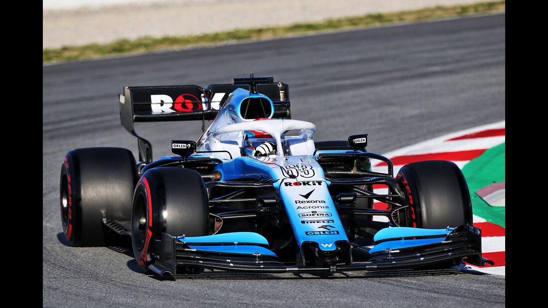 George Russell - Williams - Barcelona - F1-Test - 26. Februar 2019