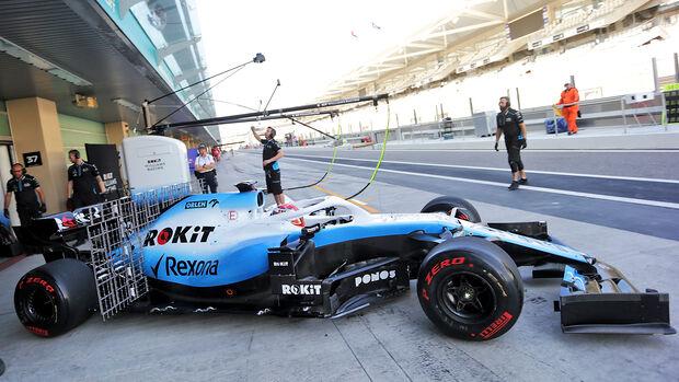 George Russell - Williams - F1-Test - Abu Dhabi - 3. Dezember 2019