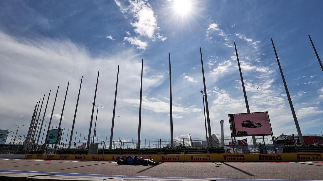 George Russell - Williams - Formel 1 - GP Russland - Sotschi - 24. September 2021