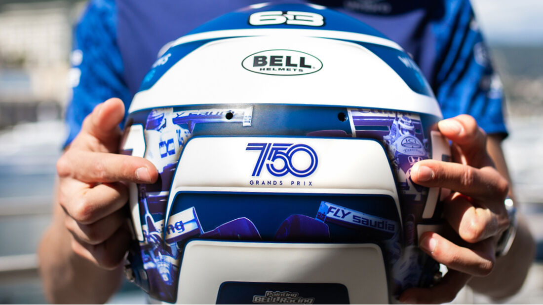 George Russell - Williams - Helm - Formel 1 - GP Monaco - 19. Mai 2021